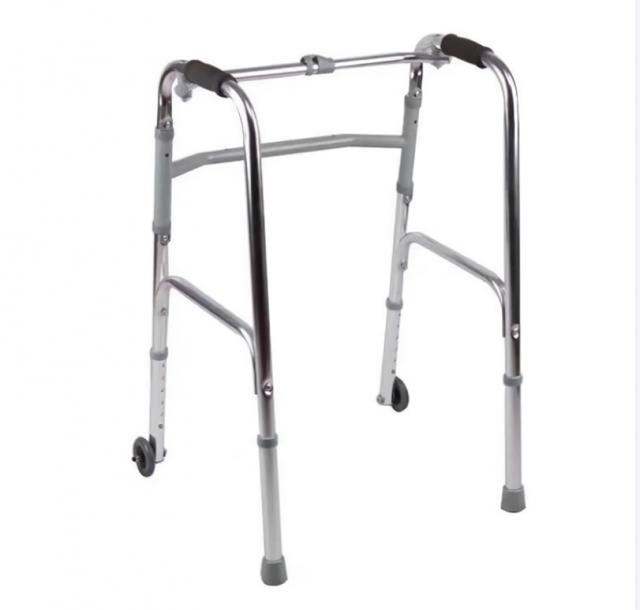 助行器 912L铝合金(带前轮) 四脚拐杖椅 行走辅助器 老人残疾人 行动不便者