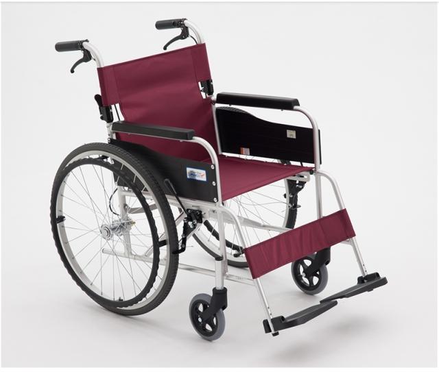 手动轮椅车 (MIKI航太铝合金轮椅) MPT-43JL 行动困难 折叠轻便 老年人代步车