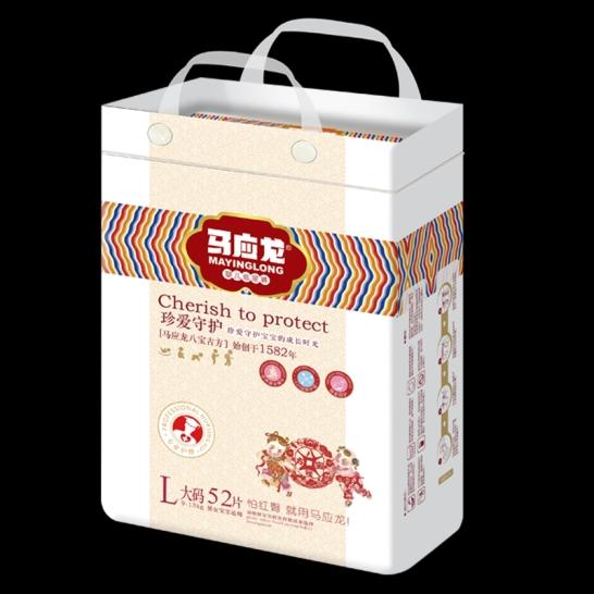 马应龙  珍爱守护婴儿纸尿裤L码(52片/包)